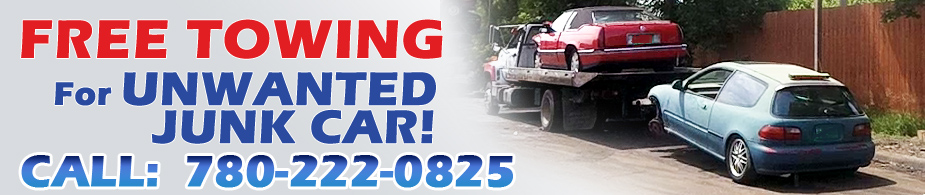 Free Towing for unwanted Junk Cars in Edmonton