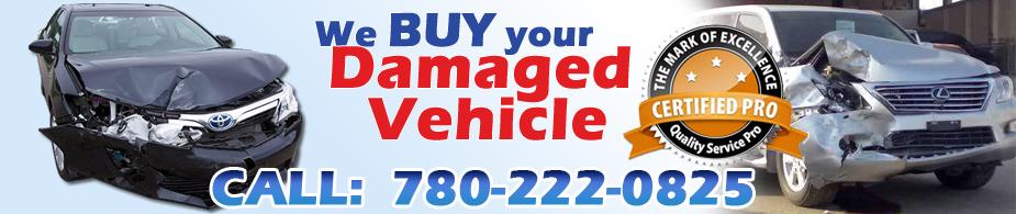 We Buy Your Damaged car Salvaged Car Damaged Vehicle - Edmonton Cash For Junk Car
